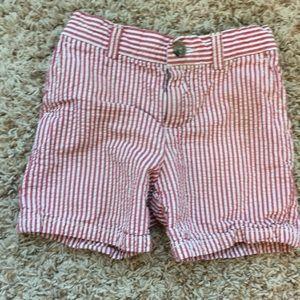 Polo by Ralph Lauren red & white seersucker shorts